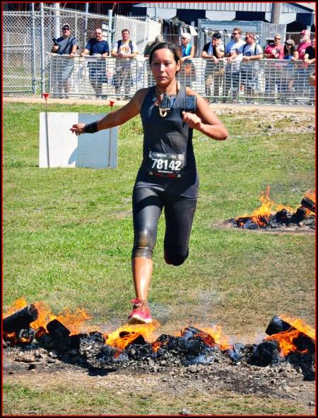 warrior dash fire jump