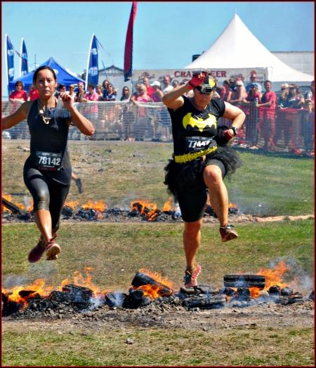 warrior dash fire jump kelly